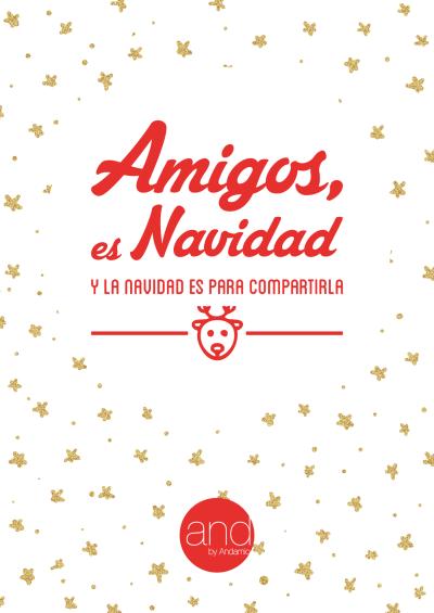 Imprimible Amigos, es Navidad II